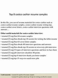top 8 costco cashier resume samples With sample resume for costco