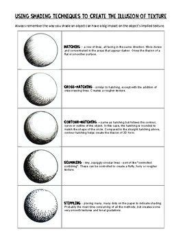 pencil texture  form shading handout  worksheets