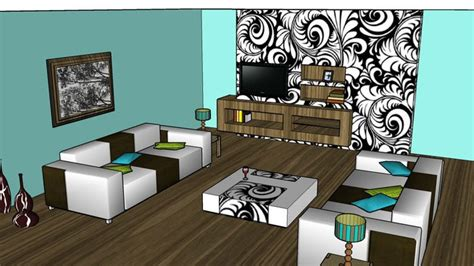 Sketchup Living Room Model by Sketchup Components 3d Warehouse Living Room With Furniture