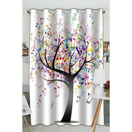 Note Bedroom Curtains by Gckg Creative Note Tree Window Curtain Kitchen