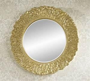 Miroir Doré Rond : miroir decoration ~ Teatrodelosmanantiales.com Idées de Décoration
