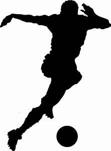 Soccer Player Silhouette Clip Art at Clker.com - vector ...
