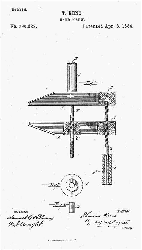 patents claimed  detroit screw works makers