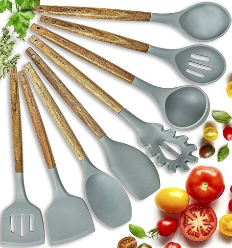 silicone utensils kitchen cooking utensil gadgets wooden must