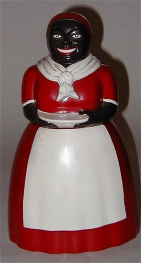 Cookie Jar; F & F Mold & Die Works, Aunt Jemima, Red Skirt