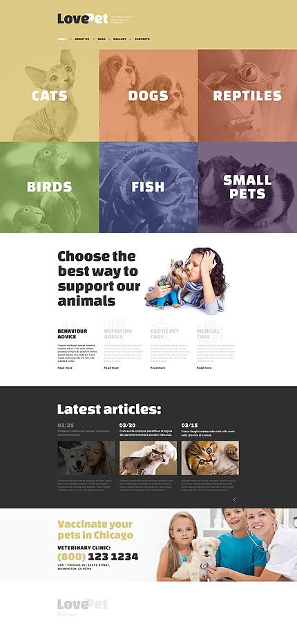 Turn Off Drupal Template by Kit Graphique Template Love Animal De Compagnie De Type
