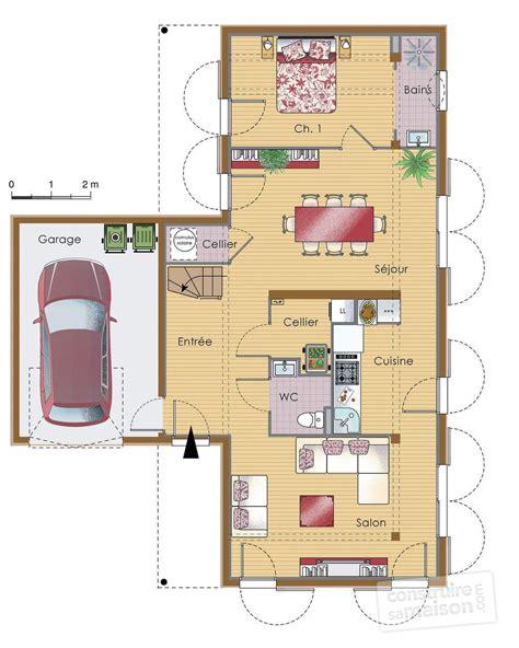 plan maison à étage 3 chambres maison contemporaine bois dé du plan de maison