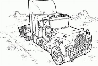 Coloring Monster Pages Truck Trucks Printable