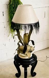 Pied De Lampe : pied de lampe ancien feuillage ann es 1900 original m tal repouss ~ Teatrodelosmanantiales.com Idées de Décoration