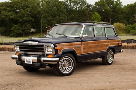 jeep grand wagoneer restored 1991 jeep grand wagoneer for sale on bat auctions
