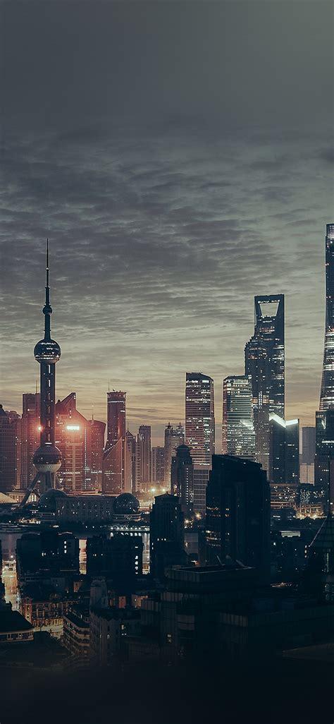 nn city shanghai night building skyline wallpaper
