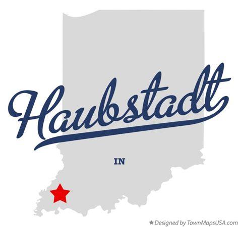 Map of Haubstadt, IN, Indiana