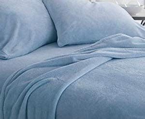 amazoncom micro fleece king sheet set extremly soft  cozy  piece  winters blue