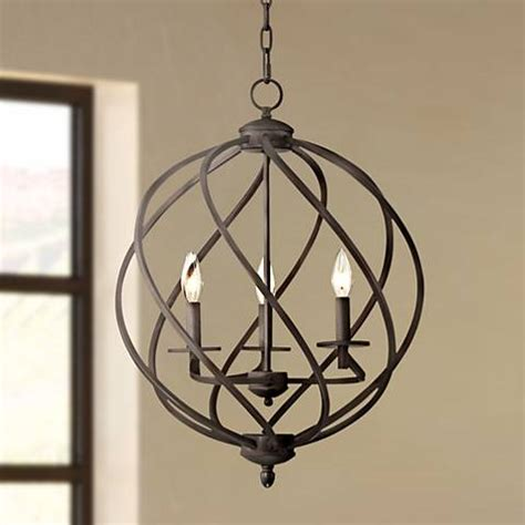 entryway chandeliers katerina 18 1 2 quot wide swirled bronze metal foyer