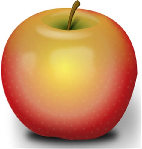 Photorealistic Red Apple clip art (115473) Free SVG ...