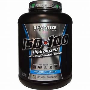 Dymatize Nutrition  Iso U2022100 Hydrolyzed 100  Whey Protein Isolate  Gourmet Vanilla  5 Lbs  2 27