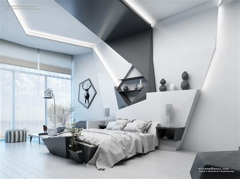 futuristic bedroom design  behance