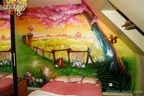 deco fee chambre fille chambres de filles décoration graffiti deco