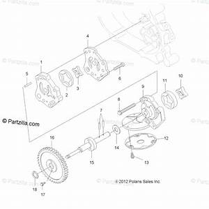 Polaris Atv 2012 Oem Parts Diagram For Engine  Oil Pump