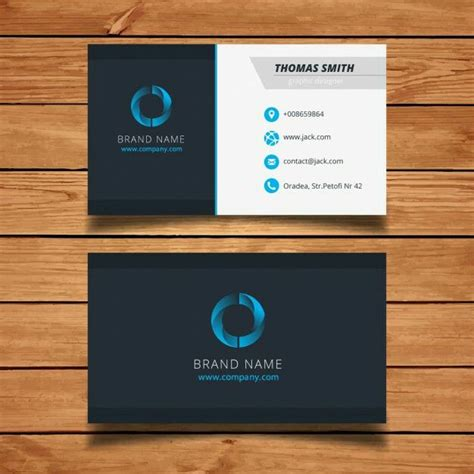 modern blue visit card template vector visiting cards