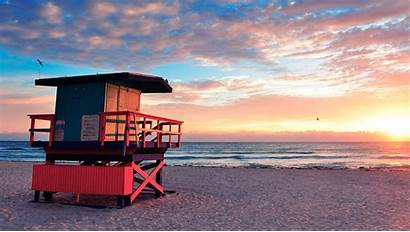 Miami Beach Sunset Florida Surfcomber South Things