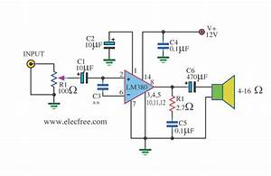Lm380 Mini Size Amplifier Circuit Diagram World
