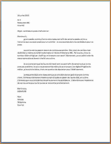 rapport de stage cuisine collective 5 lettre de motivation cuisinier en collectivité