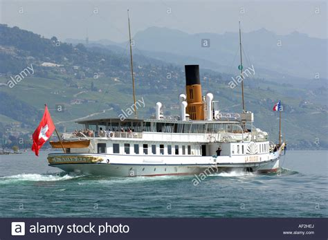 Ferry Lausanne by Lausanne Paddle Steamer Passenger Boat Ferry Lake
