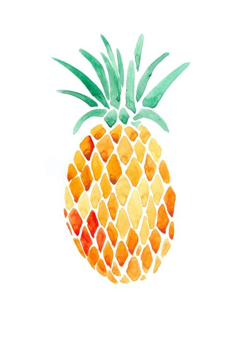 pineapple l painted pineapple art illustrations pinterest