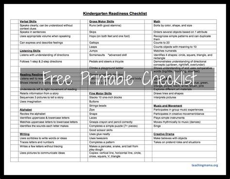 preschool readiness test kindergarten readiness checklist teaching 46808