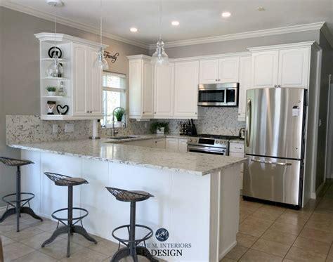 dove white kitchen cabinets e design an oak cabinet makeover with white dove 6943