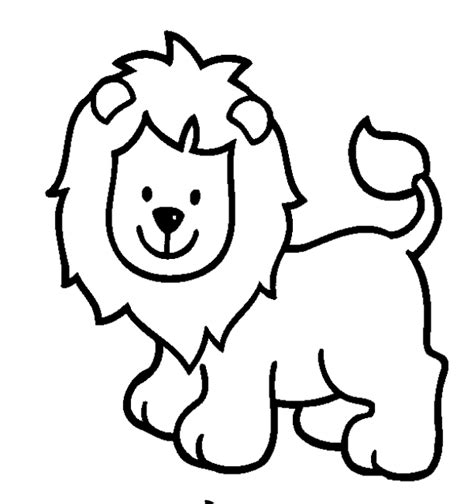simple animal coloring pages getcoloringpagescom