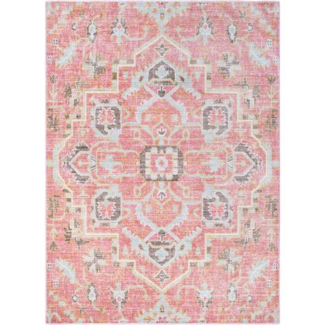 pink area rugs surya germili pale pink 2 ft x 3 ft indoor area rug