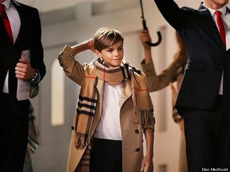 romeo beckham in burberry s from with caign huffpost uk