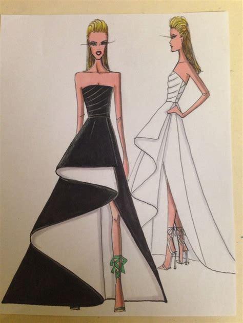 fashion illustration  nick verreos  nikolaki black
