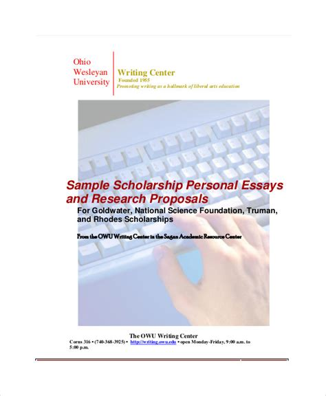 sample personal essay templates  ms word