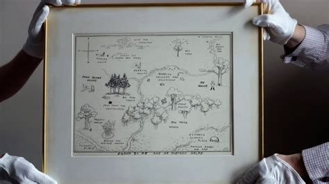 Original Map Of Pooh's Hundred Acre Wood Up For Auction