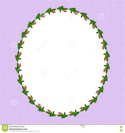 oval christmas frames oval frame royalty free stock image image 17399006