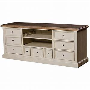 Cottage Reclaimed Wood White TV Cabinet Zin Home