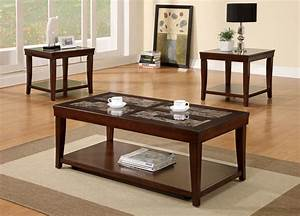 3 piece wooden coffee table set With 3 piece wood coffee table set