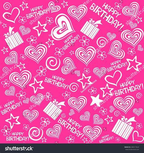 happy birthday seamless background pattern illustration