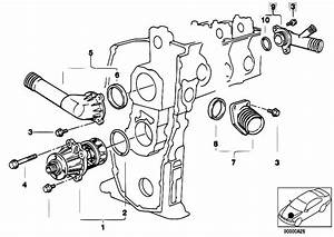 Original Parts For E34 518i M43 Sedan    Engine   Waterpump Thermostat