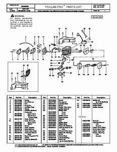 Poulan 2150 Chainsaw Fuel Line Diagram