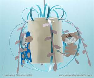 suspension savane des animaux rigolos pour nos With couleur de peinture bleu 4 luminaire chambre garon suspension enfant