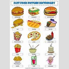 English Vocabulary  Fast Food   English  Vocabulary Flashcards  English Vocabulary, Learn