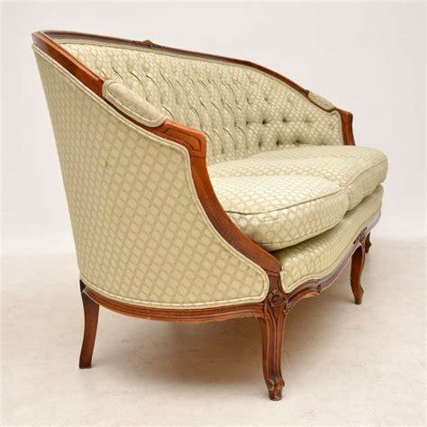 Antique French Carved Walnut Sofa Marylebone Antiques
