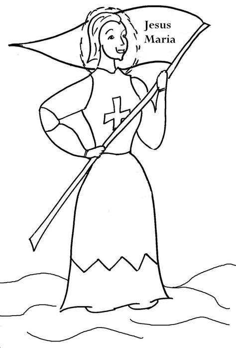 HD wallpapers joan of arc coloring pages