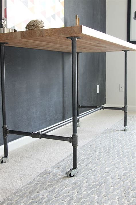 build a standing desk home depot diy workbenches decorating your small space