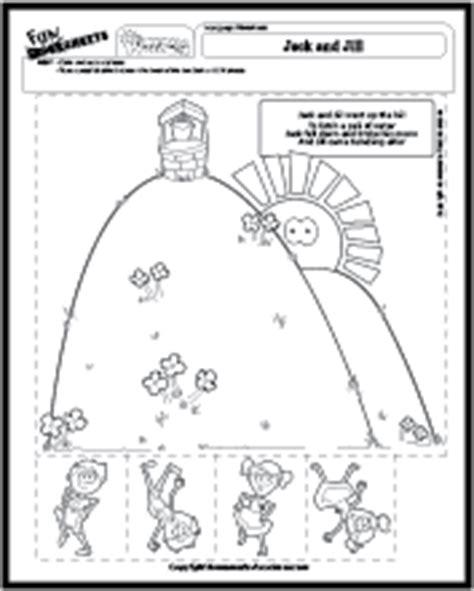 nursery rhymes 183 | worksheet nursery jack jill