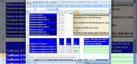 calculate  coefficient  variation cv
